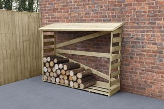 5ft Slatted Wooden Log Store