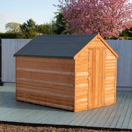 8x6ft | Wooden Overlap Apex Shed with Window | Single Door