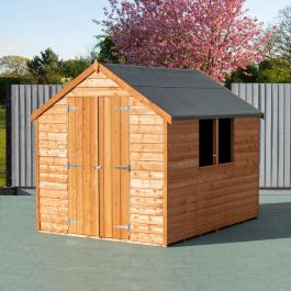 8x6ft | Wooden Overlap Apex Shed with Window | Double Door