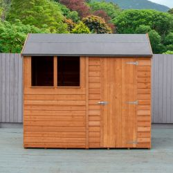 8x6ft | Wooden Overlap Reverse Apex Shed | Single Door