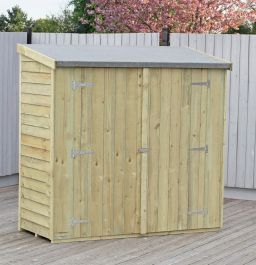 6x3ft | Wooden Overlap Pent Shed | Pressure Treated
