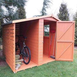 7x6ft | Wooden Shed and Log Store