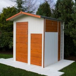 6x6ft | Wooden Multi Store Shed | Four Doors