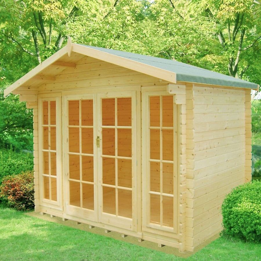 12x10ft | Epping Log Cabin | Double Doors