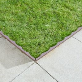 1.2m FlexEdge Lawn Edging in Brown by Smart Garden