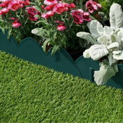 Pack of 4 Scallop Style Lawn Edging in Green by Smart Garden