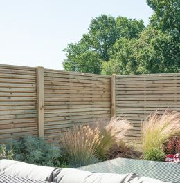 Set of 3 | 6ft x 5ft  Double Slatted Wooden Fence Panel | Pressure Treated