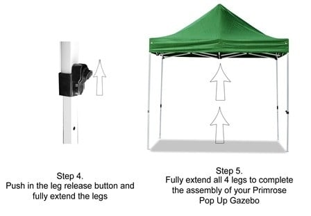 Hybrid Plus 3m x 3m Pop Up Steel/Aluminium Gazebo - White
