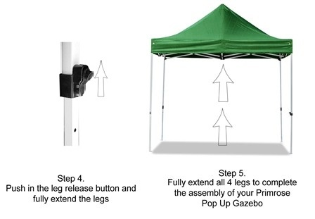 Portable Budget 3m x 3m Foldable Pop Up Gazebo Tent - White