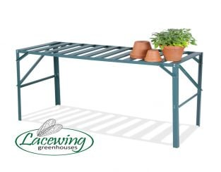 "4' 1"" Lacewing™ Traditional 1 Tier Greenhouse Staging - Green"