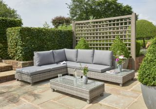 Bahama 5 Seater Rattan Lounge Set in Grey