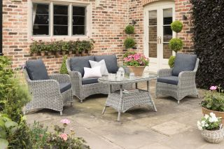 Lynford 4 Seater Rattan Lounge Set in Grey