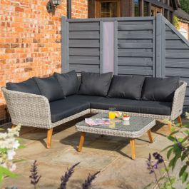 Hanoi Four Seater Rattan Corner Sofa Set by Rowlinson