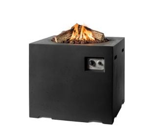 Lounge & Dining Square Fire Pit in Black 76cm