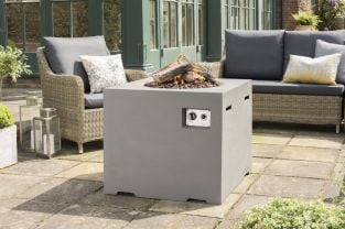 Lounge & Dining Square Fire Pit in Grey 76cm