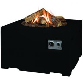 Norfolk Leisure 60cm Small Square Fire Pit in Black