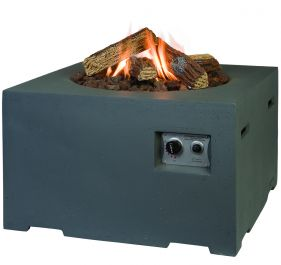Small Square Fire Pit in Grey 60cm