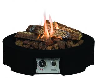 Norfolk Leisure 61cm Table Top Round Fire Pit in Black