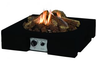 Table Top Square Fire Pit in Black 61cm