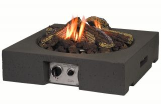Norfolk Leisure 61cm Table Top Square Fire Pit in Grey
