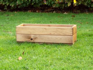 Charles Taylor 76cm Medium Window Box Planter FSC Redwood