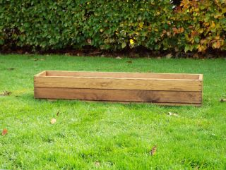 120cm (3ft 11in) Large Window Box Planter FSC Redwood by Charles Taylor™