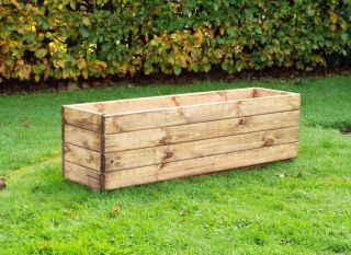 105cm (3ft 5in) Large Trough Planter FSC Redwood by Charles Taylor™