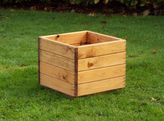 Charles Taylor 37cm Small Square Planter FSC Redwood