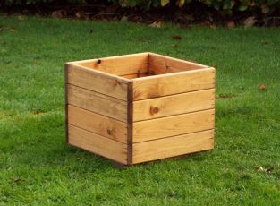 37cm (15in) Small Square Planter FSC Redwood by Charles Taylor™
