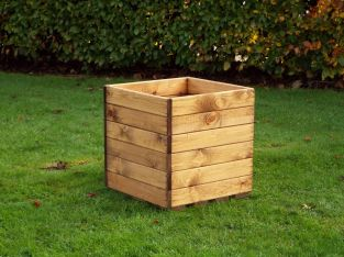 43cm (17in) Large Square Planter FSC Redwood by Charles Taylor™