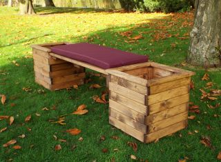 Charles Taylor Deluxe Planter Bench - FSC Redwood