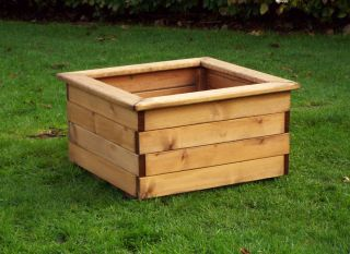 Charles Taylor 58cm Extra Large Square Planter FSC Redwood
