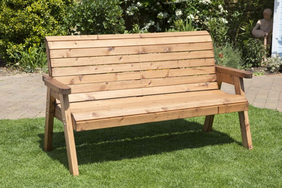 Charles Taylor Traditional Three Seater Bench FSC Redwood