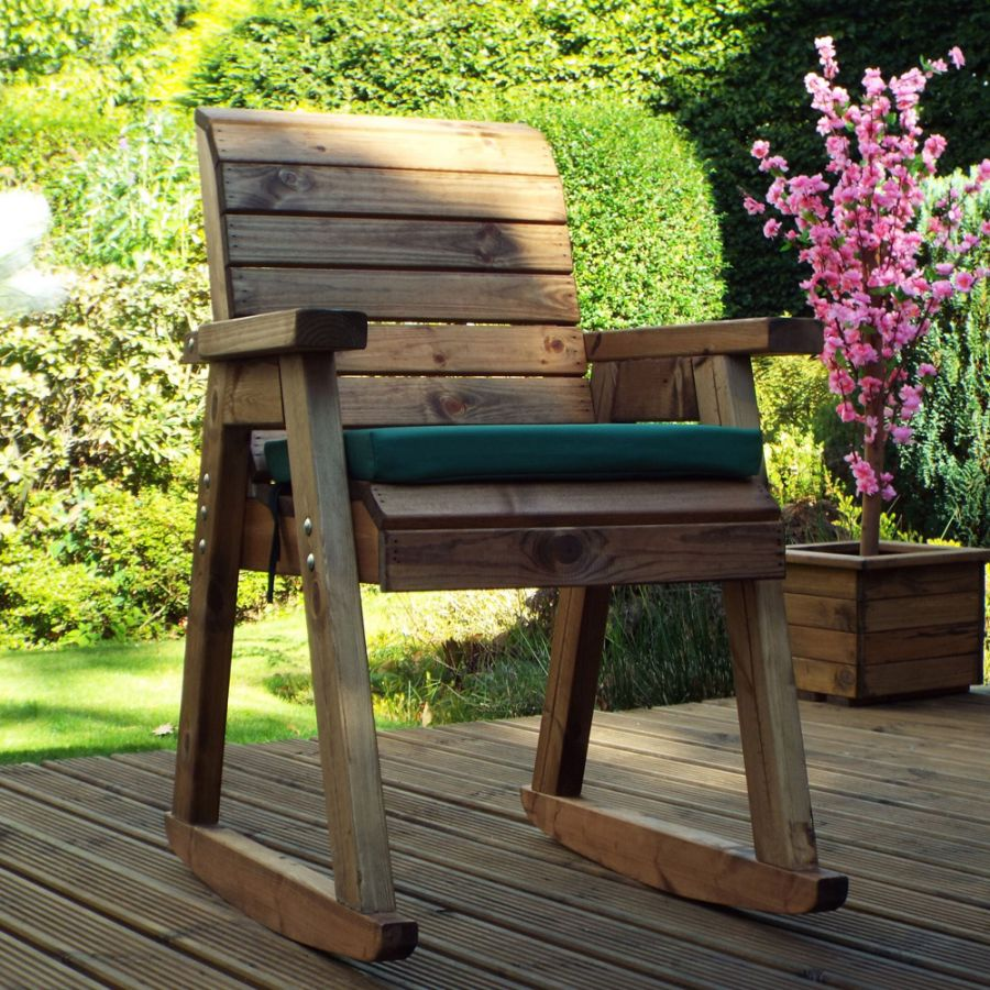 Charles Taylor Wooden Garden Rocker Chair