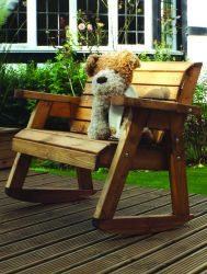 Charles Taylor Little Fella's Children's Bench Rocker - FSC Redwood