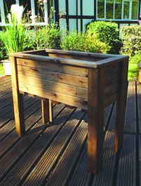 Charles Taylor 82cm Medium Raised Redwood Trough Planter