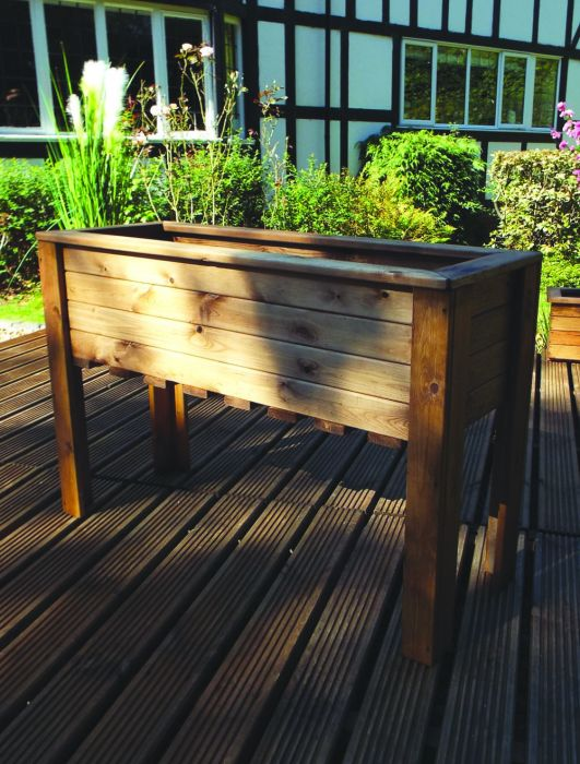 109cm (3ft 7in) Large Raised Trough Planter FSC Redwood by Charles Taylor™