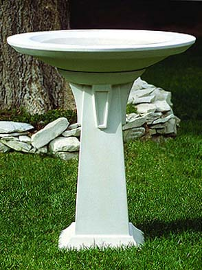 Art Deco Bird Bath