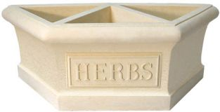 Herb Garden 1/2 Planter Decorative Feature
