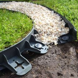 3.75m Flexible Garden Edging (5x 80cm packs) in Black - H4.5cm by EcoGrid™