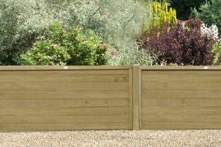 6ft x 3ft Fence Panel Pack of 3 - Pressure Treated Horizontal Tongue and Groove