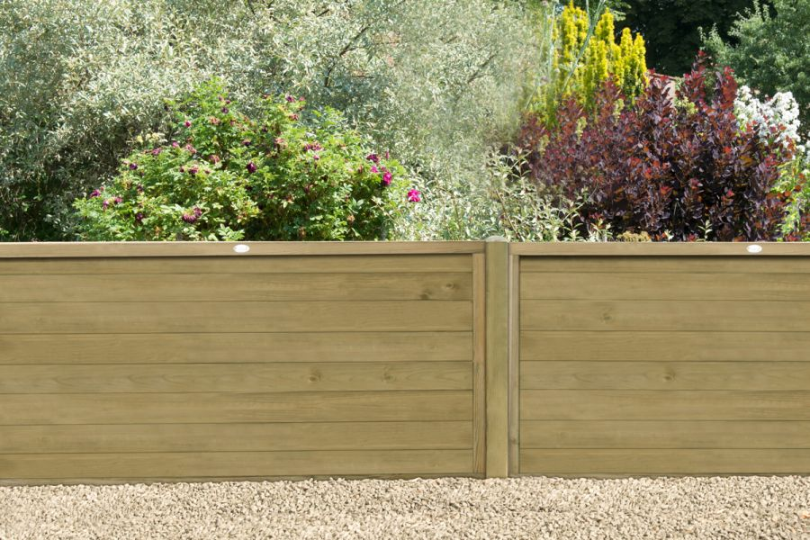 6ft x 4ft Fence Panel Pack of 3 - Pressure Treated Horizontal Tongue and Groove
