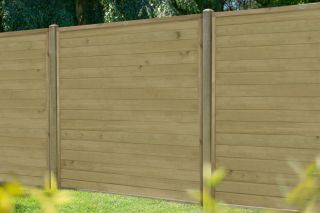 6ft x 6ft Fence Panel Pack of 3 - Pressure Treated Horizontal Tongue and Groove