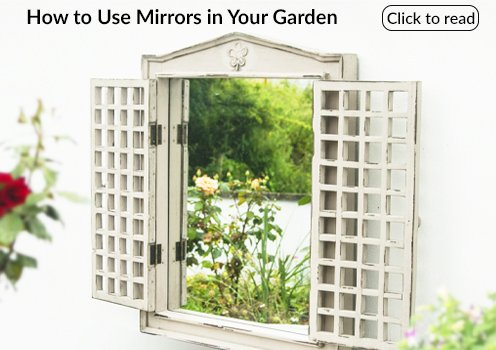 how to use mirrors in your garden