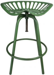 Outdoor Tractor Seat Stool, Green - 70cm