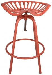 Outdoor Tractor Seat Stool, Red - 70cm
