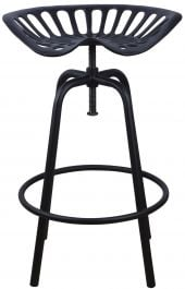 Outdoor Tractor Seat Stool, Black - 70cm