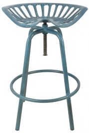 Outdoor Tractor Seat Stool, Blue - 70cm