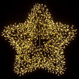 1.2m Gold Christmas Starburst Cluster Wall Decoration with Warm White LED's