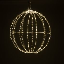 40cm Warm White LED Folding Fairy Light Ball